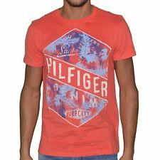 TOMMY HILFIGER - TSHIRT MANCHES COURTES - HOMME - TH 04 FELIX - ROUGE NEUF