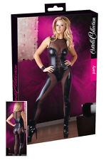Catsuit whole dress shiny black with trasparenze Jumpsuit Wetlook