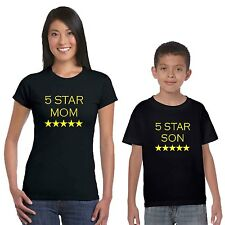 5 Star Mom And Son T-shirts Set of 2