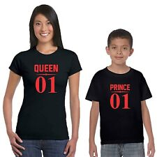 No.1 Queen Prince Mom and Son T-shirts Set of 2