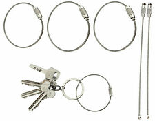 Wire Stainless Steel Key Ring Holder Aircraft Cable With Screw Locking Outdoor