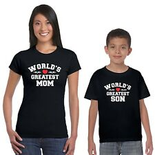 World's Greatest Mom and Son T-shirts Set of 2