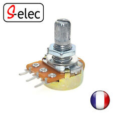 4001# Linear Taper Rotary Potentiometer 3 Pin 15mm Shaft Nut on choose