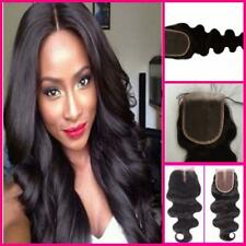 Hair Parting Lace Top Closure Virgin Brazilian Remy Human Hair Free Part UK SELL