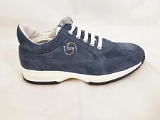 Byblos Shoes Scarpe Donna Sneakers Camoscio Suede Strass Blue Navy  SHB207