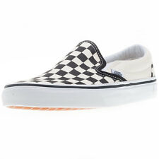 Vans Classic Slip-on Check Mens Slip On Black White New Shoes