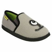 MOVELLO RISE BOYS CLARKS SLIP ON MONSTER COSY WARM  WINTER INDOOR HOUSE SLIPPERS