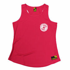 White Weight Plate Breast Pocket SWPS WOMENS DRY FIT VEST birthday gym training