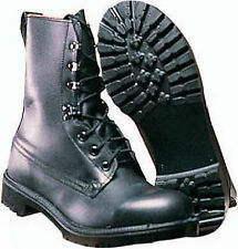 Army Assault Boots British Army Surplus Black Leather Military Combat boots G1