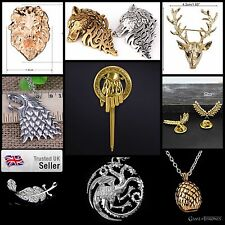 NEW Authentic Game of Thrones Large Bronze Vintage Detailed Pin Wolf Stag Brooch