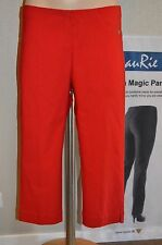 LauRie Emma SANNA Capri Cropped Slim leg fit 29941 RED Sizes 14 to 22 40 to 48