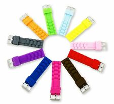 Rubber Silicone watch strap band for FOSSIL/ICE 18 20 22 24mm Buckle/Clasp