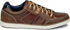 Mens Skechers 64919 Brown Lanson Rometo Leather Lace Up Casual Trainers Pumps
