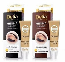 (24,30 €/100ml ) DELIA Henna crema nero marrone grafite per sopracciglia 30 ml