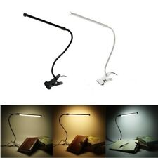 Flexible USB Clip-on Table Lamp LED Touch Clamp Reading Laptop Desk Light