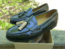 Cole Haan Pinch Tassel Black Leather Penny Loafers #03506