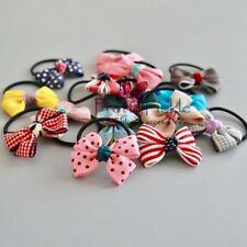 Reduced Hair Band - Small Patterned Ribbon Bow with Elastic Band for Toddlers