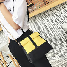 Womens Lady Panelled Hot Canvas Shoulder Messenger Crossbody Tote Handbag Bag H