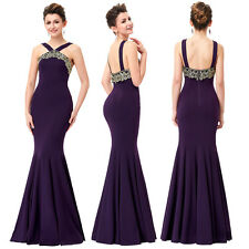 Long Sexy Elegant Bridemaid Dress Fishtail Mermaid Evening Party Prom Ball Gowns