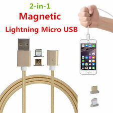 2 in 1 Magnetic Charging Cable 3.3ft Lightning and Micro USB Adapter