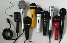 MICROPHONES for SINGERS, DJs, KARAOKE click on - SELECT - to browse or order