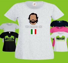 The Bearded One Ladies PRINTED T-SHIRT Andrea Pirlo Football Player Juventis