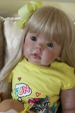 Reborn baby Girl/Toddler Tibby OOAK art doll -Donna Rubert