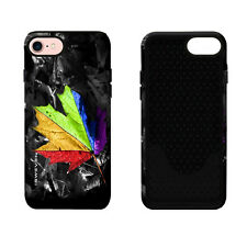 iSweven printed Rainbow Leaf design 2in1 back cover for Apple iPhone 7