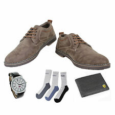 SHOES COMBO YELLOW TREE GRAY SHOES+REEBOK WATCH+BRANDED WALLET+3 PAIR SOCKS