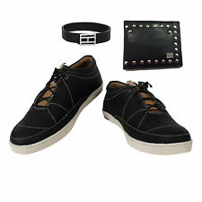 SHOES COMBO YELLOW TREE BLACK SHOES+BRANDED WALLET+BRANDED PURE LEATHER BELT-6