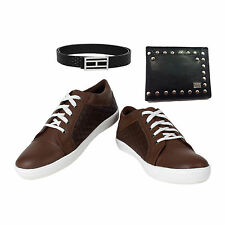 SHOES COMBO YELLOW TREE BROWN SHOES+BRANDED WALLET+BRANDED PURE LEATHER BELT-6