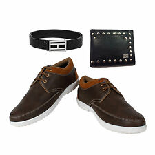 SHOES COMBO YELLOW TREE BROWN SHOES+BRANDED WALLET+BRANDED PURE LEATHER BELT-9