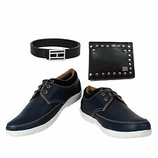 SHOES COMBO YELLOW TREE BLUE SHOES+BRANDED WALLET+BRANDED PURE LEATHER BELT-1