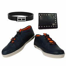 SHOES COMBO YELLOW TREE BLUE SHOES+BRANDED WALLET+BRANDED PURE LEATHER BELT-2