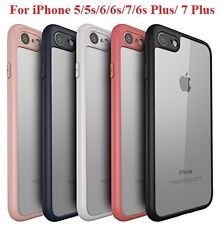 Apple iPhone 5 6 7 & Plus Transparent Back Cover With Camera Soft Bumper Case