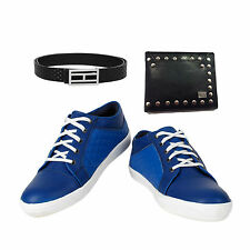 SHOES COMBO YELLOW TREE ROYAL BLUE SHOES+BRANDED WALLET+BRAND PURE LEATHER BELT