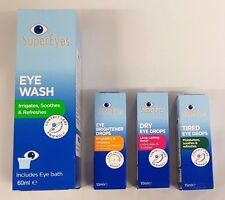 SuperEyes Eye Wash / Eye Brightener , Dry , Tired Drops New - SELECT THE TYPE