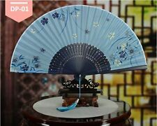 Bamboo, Silk, Chinese, Japanese Handheld, Foldable Fan With Cover