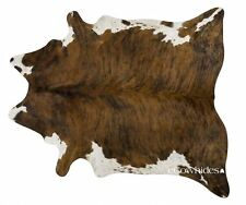 Brindle White Belly Brazilian Cowhide Rug Cow Hide Area Rugs