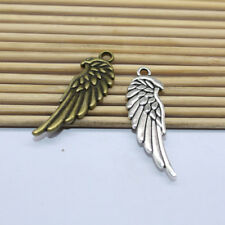 wholesale 15/45pcs Delicate and lovely antique silver wings charm pendant