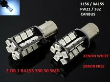 2 OR 1 CANBUS ERROR FREE BA15S 382 p21w 1156 BULB XENON WHITE DRL 30 SMD LED