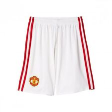 Pantaloncini corti adidas Manchester United Home 2016-2017 White-Real red