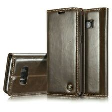 Premium Luxury Magnetic Flip Wallet Case Cover for Samsung Galaxy S8 / S8+ Plus