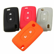 2Button Silicone Key Case Holder Fob Protect Cover For Peugeot 206