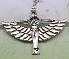 3/10pcs 41x55mm Lovely With open wings of an angel pendant antique silver