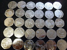 Various Rare and Commemorative Coin Hunt 50p UK Circulated Coin Cheapest at Ebay