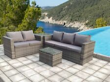 RATTAN GARDEN OUTDOOR WICKER PATIO FURNITURE CONSERVATORY SOFA SET TABLE CHAIR