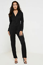 Fashion Union Work Long Sleeve Button-up Jumpsuit