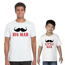 Fathers day gifts | Moustache Big Man Little Man T-shirts, Gift for Dad Birthday