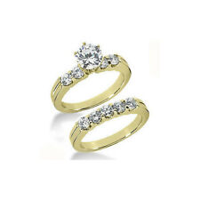 Diamantring Set mit 1.50 Karat Diamanten, 585/14K Gelbgold *Exclusivset No.32*